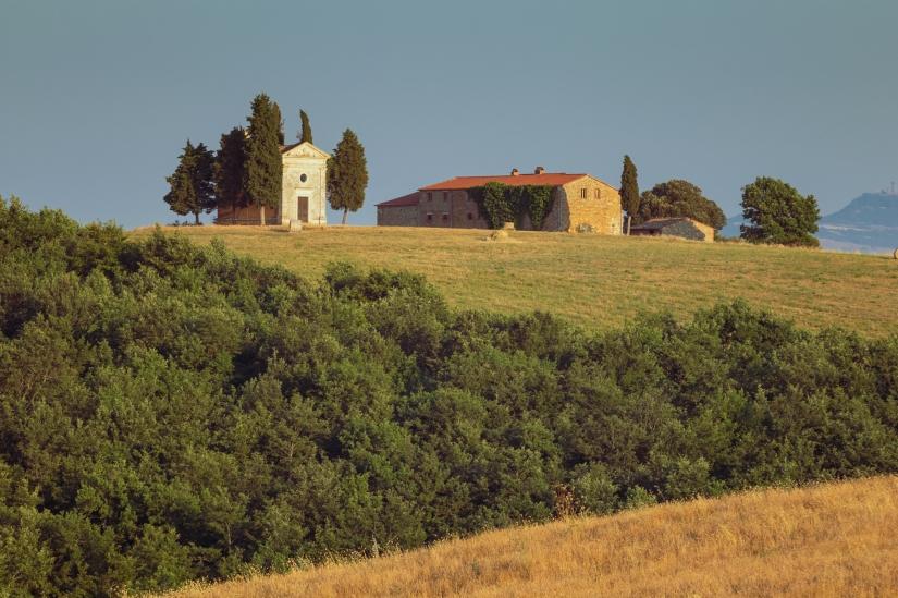 La cappella della Madonna di Vitaleta.