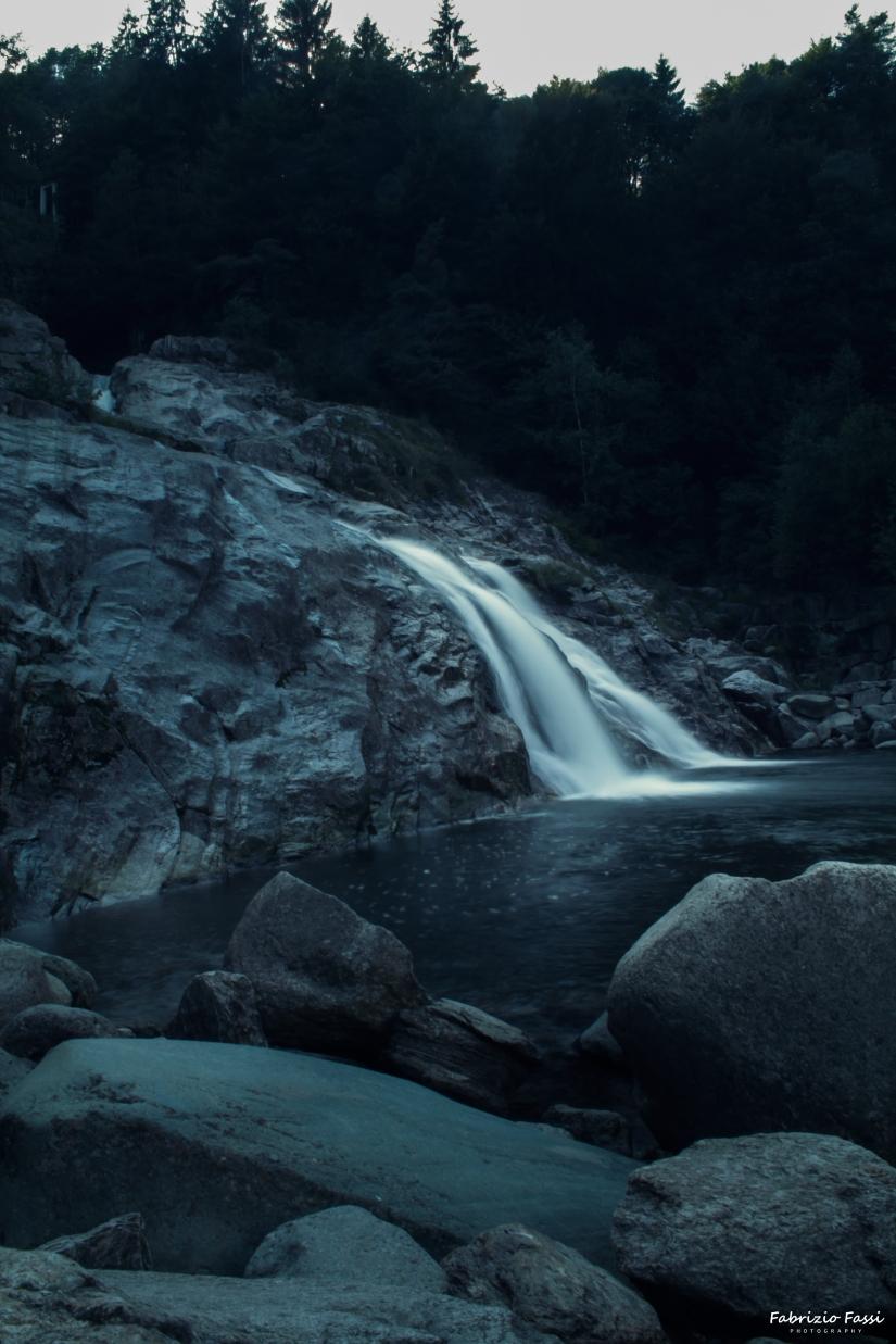La cascata.
