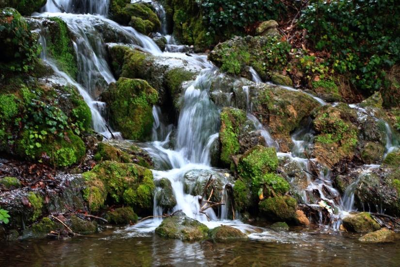 La cascata dei giardini della villa reale di monza