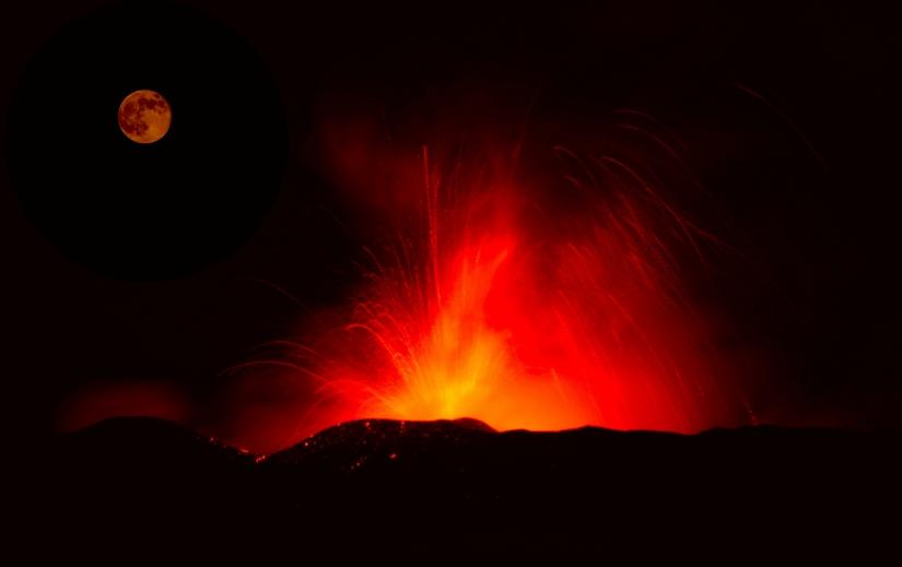 La luna si tinge di rosso