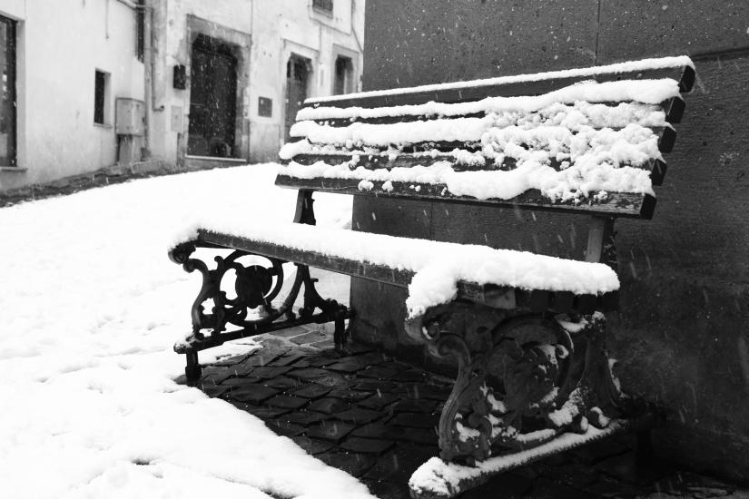 La panchina sotto la neve