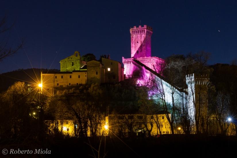 La Rocca in rosa