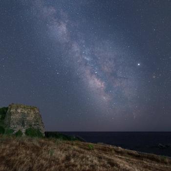 La Via Lattea su Torre Calèo