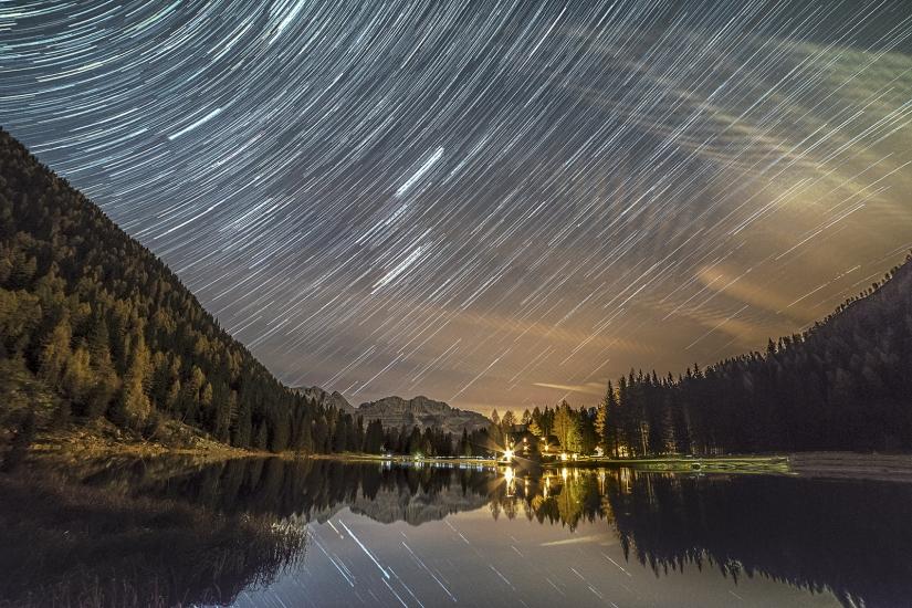 Lago di Nambino by night