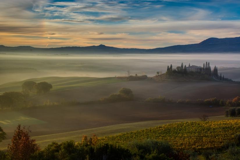 L'alba al Belvedere