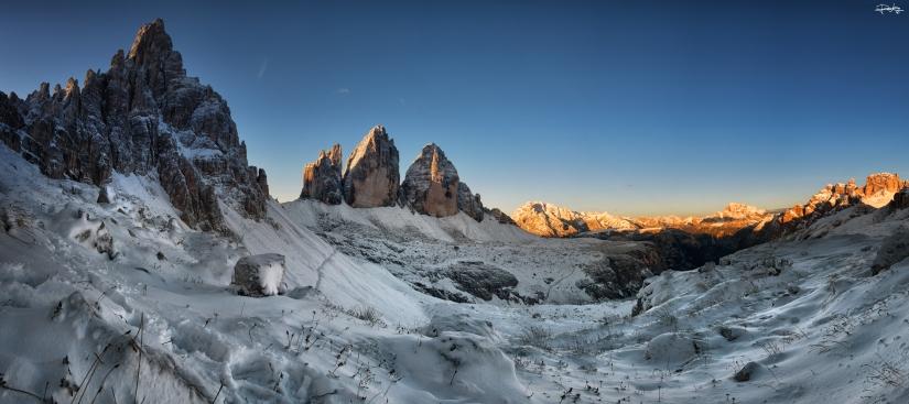 Landscape su trecime e Paterno- fusione di 10 scatti