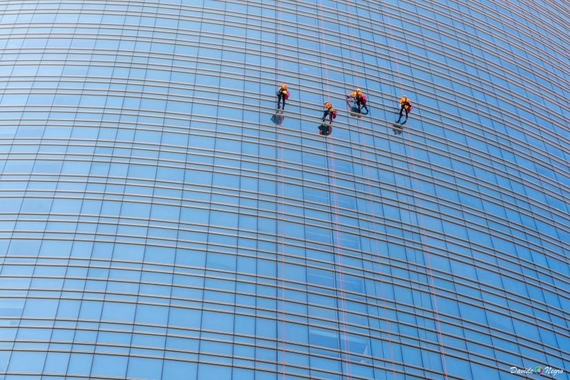 Lava vetri in altura