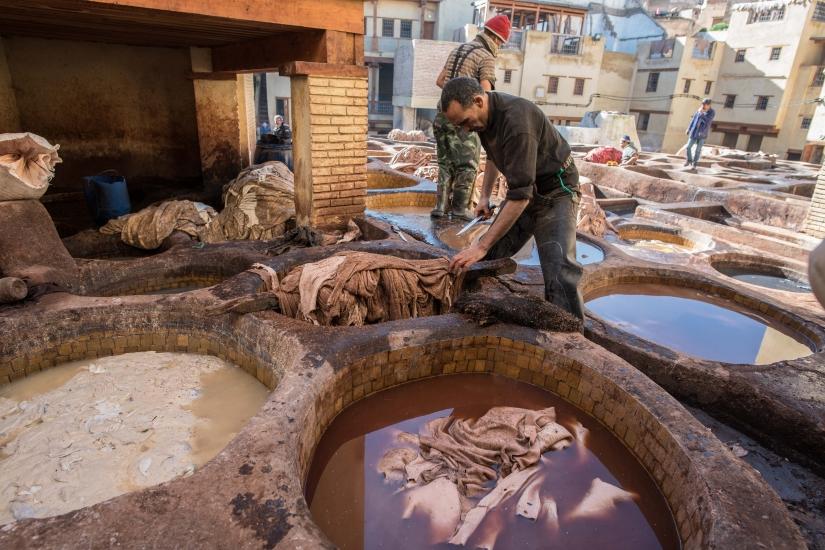 Le concerie di Fes (Marocco)