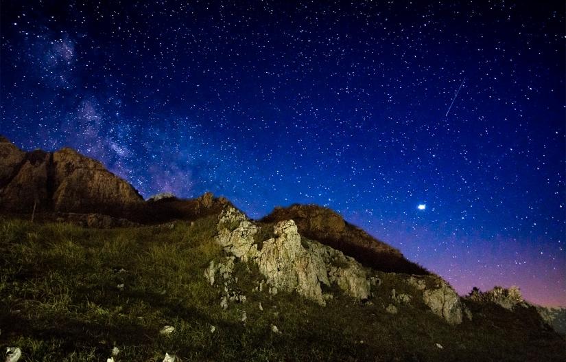 Le stelle sopra ai Sibillini