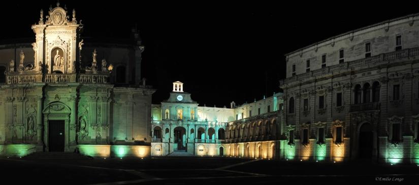 Lecce, Piazza Duomo by night