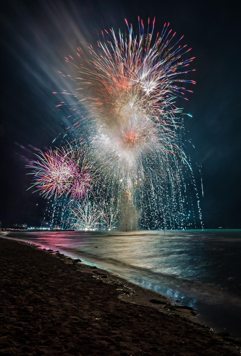 L'incendio del mare a Lignano Pineta 2018