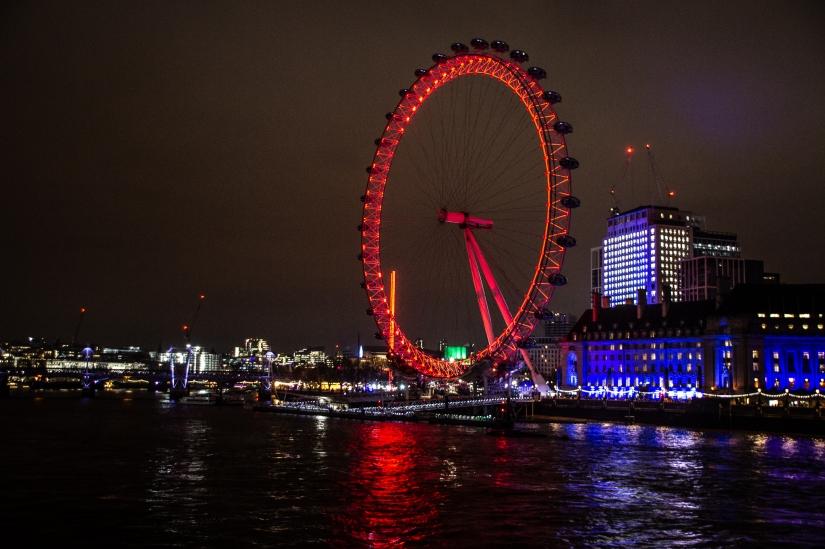 London eye alla sera