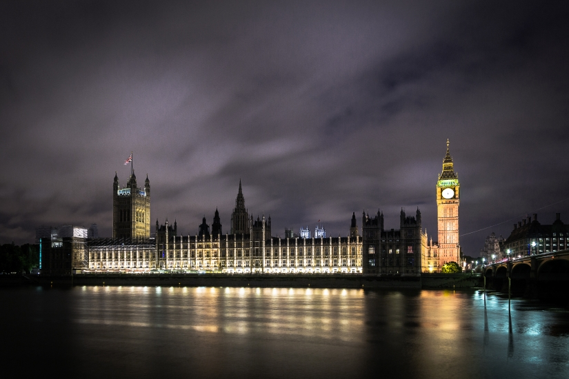 London by night color