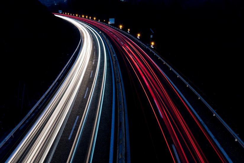 Luci in autostrada