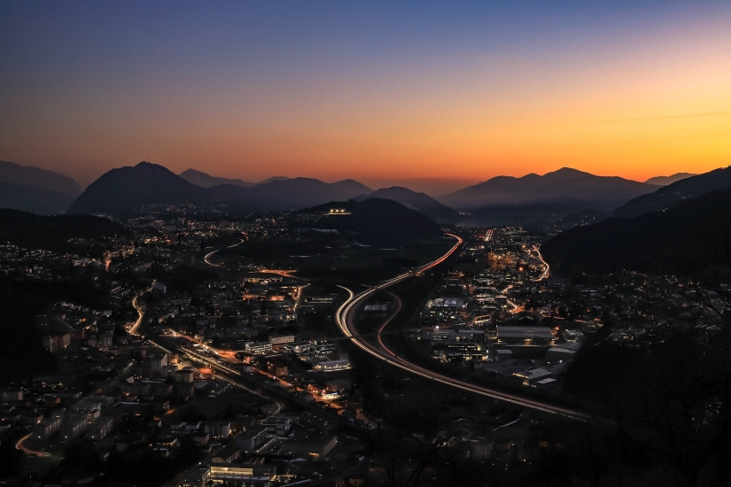 Lugano al tramonto