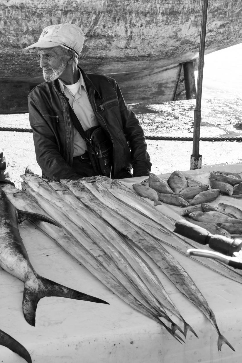 Mercato del pesce a Essauira Marocco