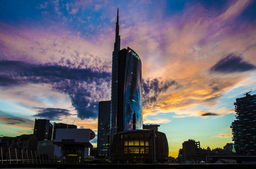 Milan at sunset