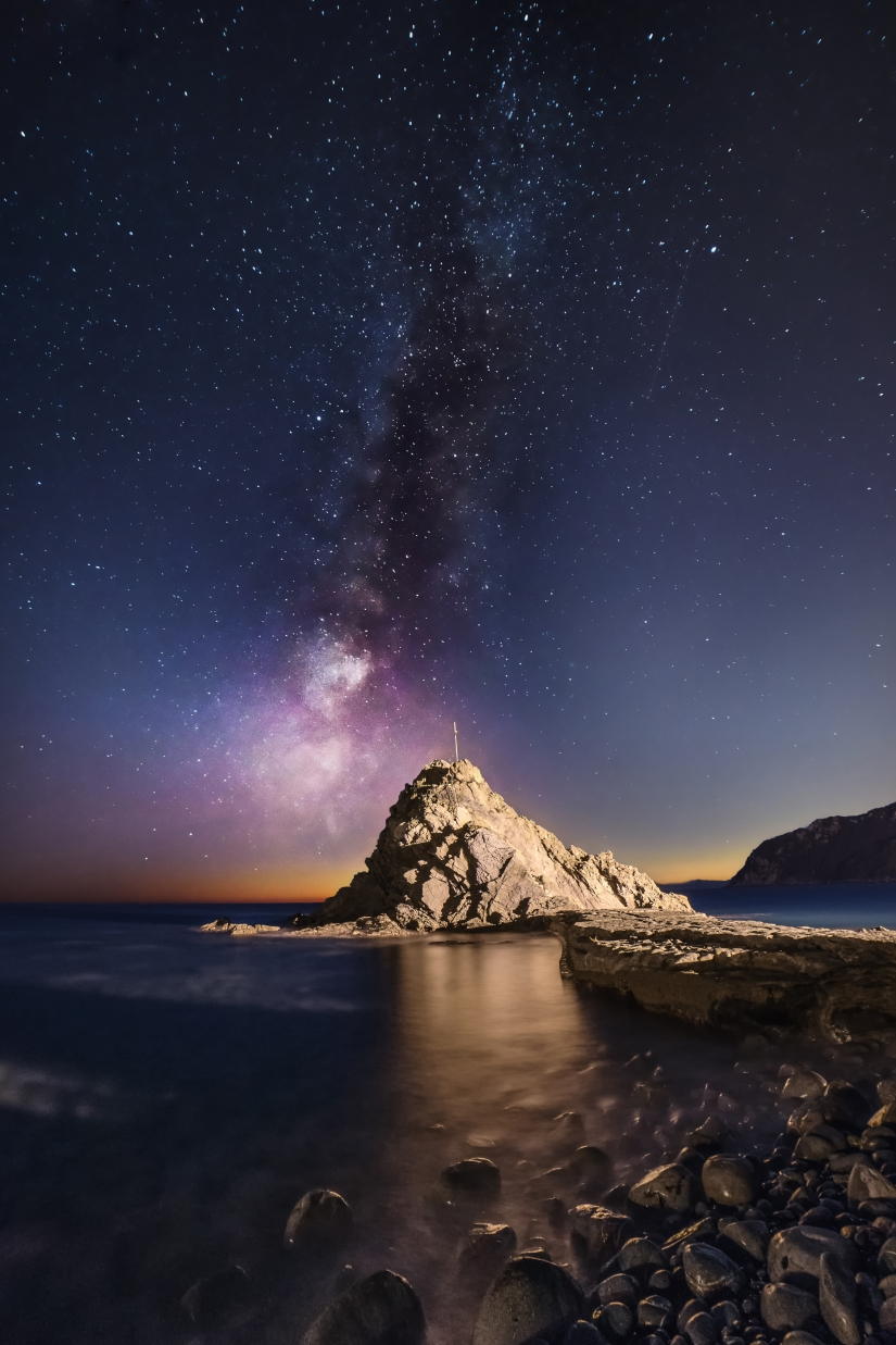 Milky way on the sea