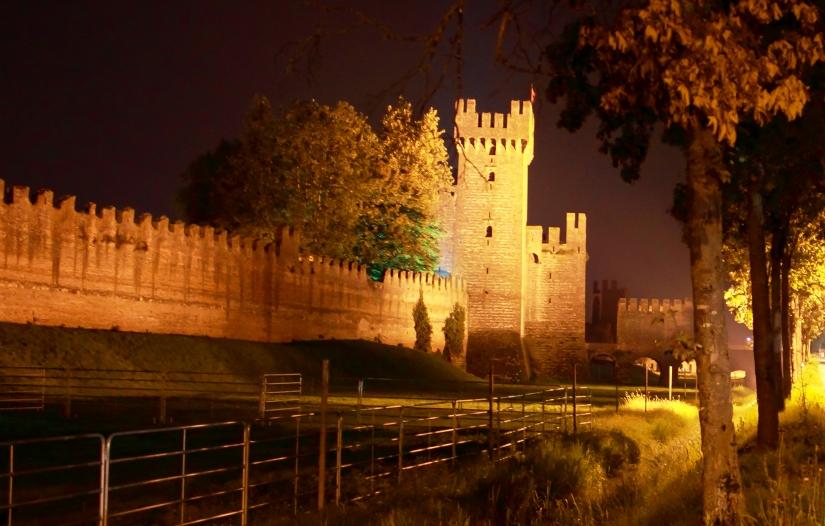 Montagnana by night