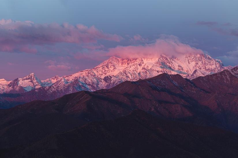Monte Rosa all'alba
