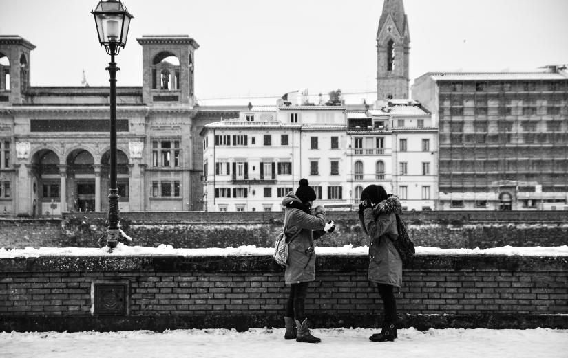Neve tra amiche