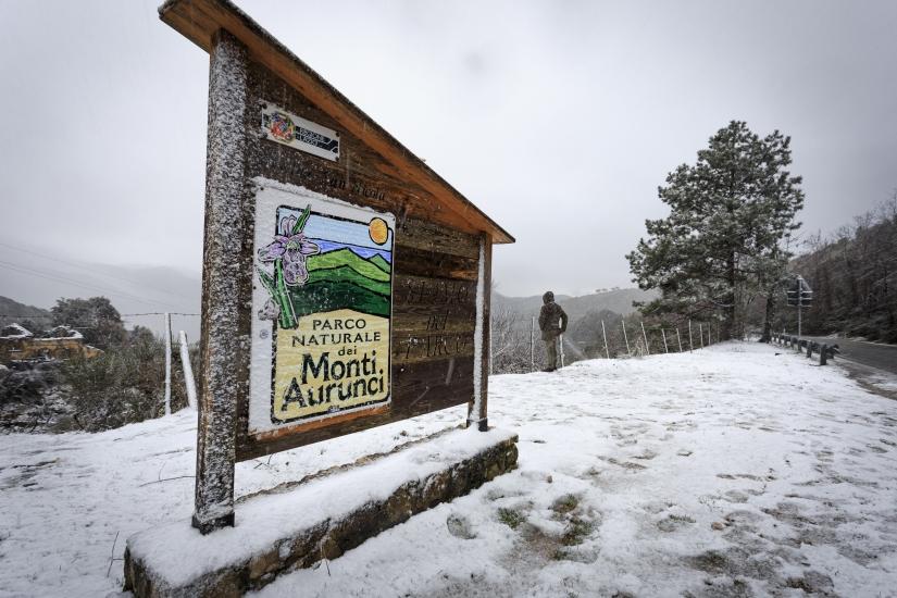 Nevicata sui monti Aurunci