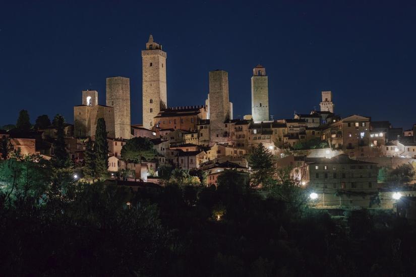 Notturno magico a San Gimignano