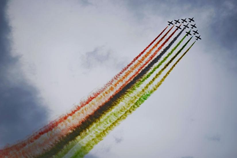 Nuvole tricolori e nuvole nere... - P.A.N. Frecce Tricolori - Italia
