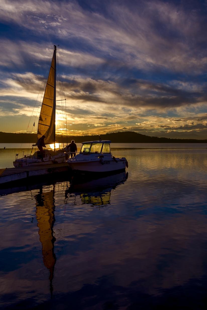 Ormeggio al tramonto