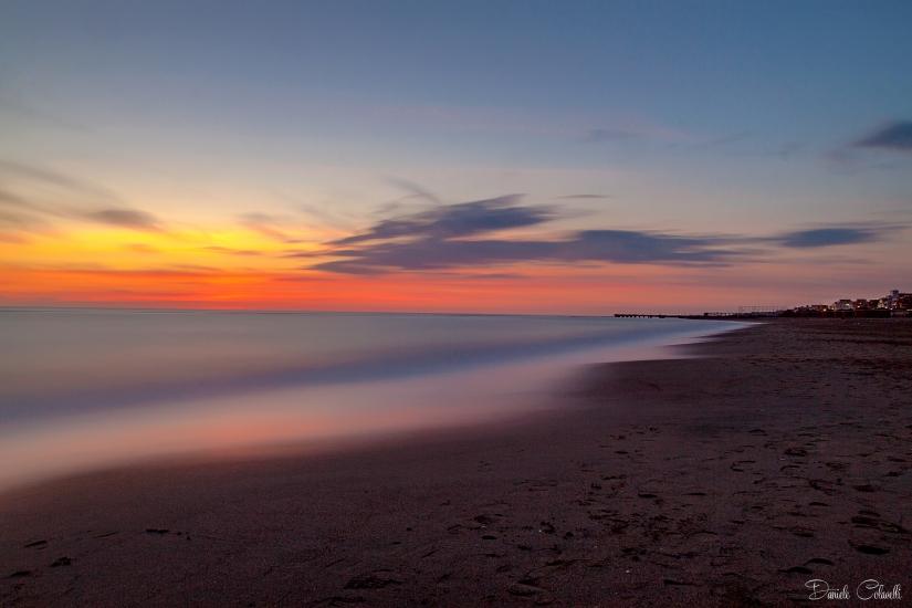 Ostia Beach al tramonto