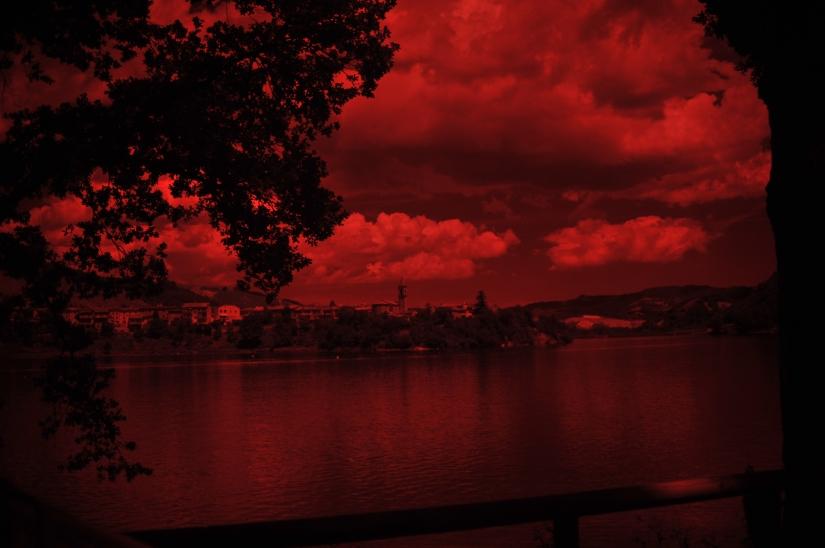 Paesaggio all'infrarosso