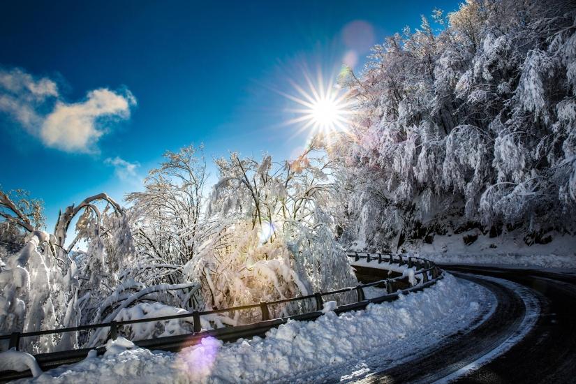 Paesaggio con la neve