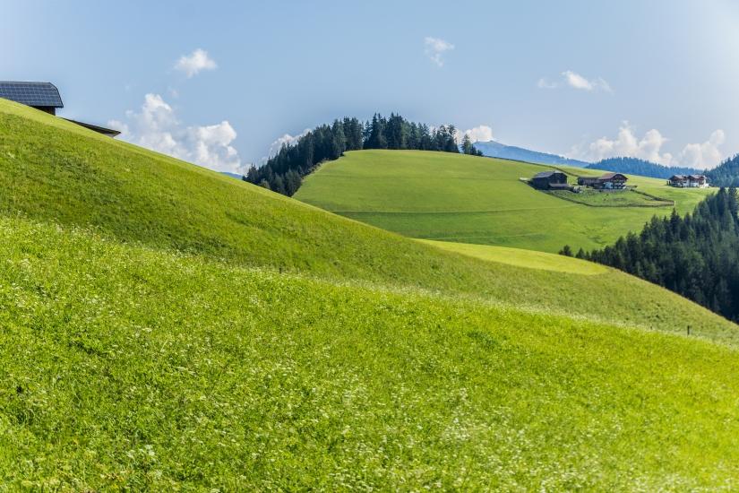 Paesaggio naturale  ondulato
