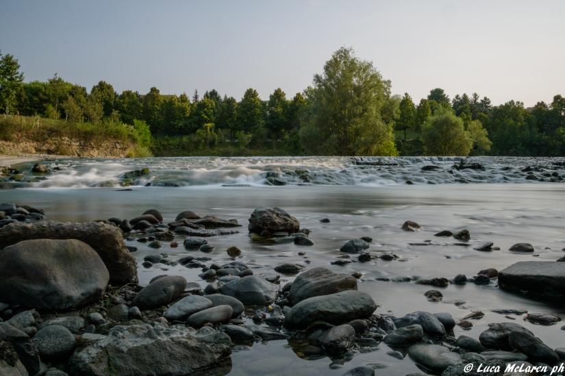 Paesaggio sul fiume Dora