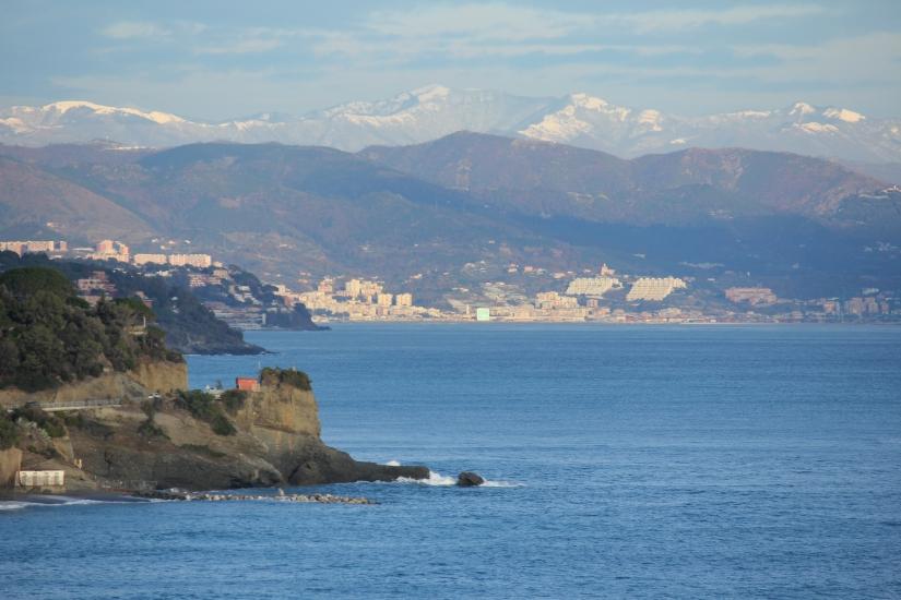 Panorama della costa ligure