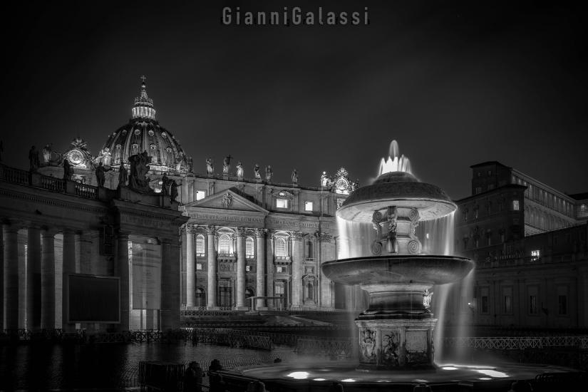 Particolare di piazza San Pietro
