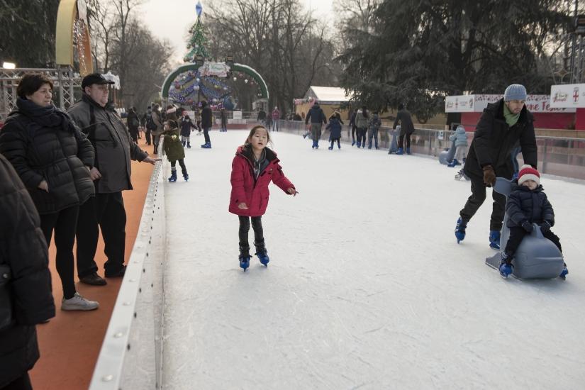 Pattinando sul ghiaccio