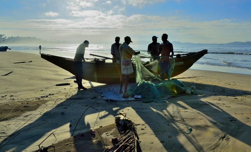 Pescatori all'alba.
