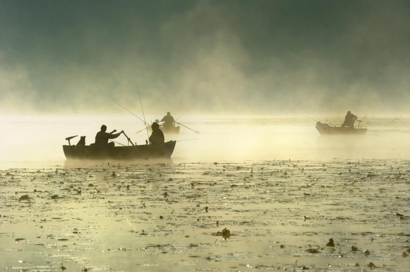 Pescatori Sul Lago di Alserio