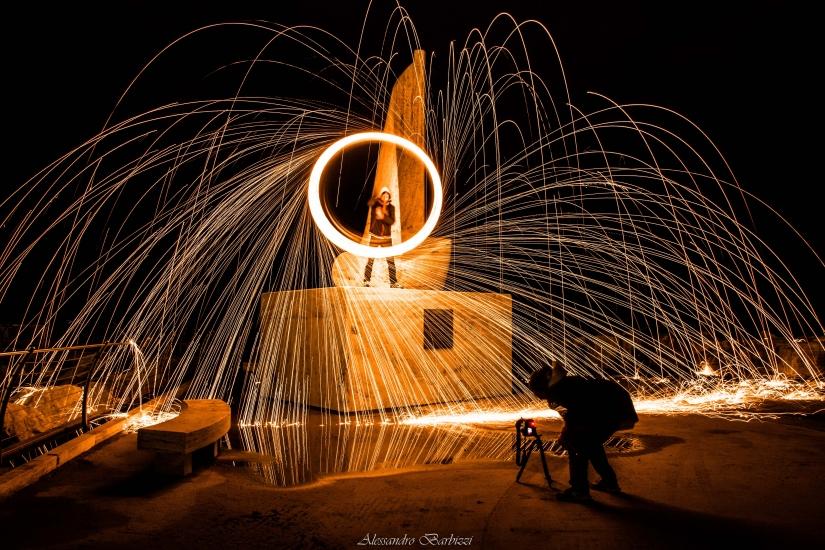 Pioggia di fuoco alla vela San Benedetto del Tronto