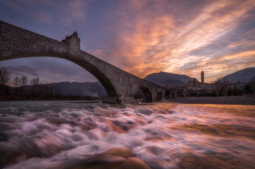 Ponte gobbo a Bobbio....