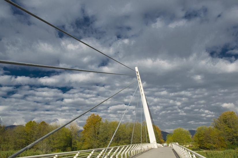 Ponte Sul parco Fluvile a Lucca