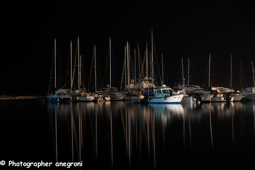 Porto di Calasetta di notte