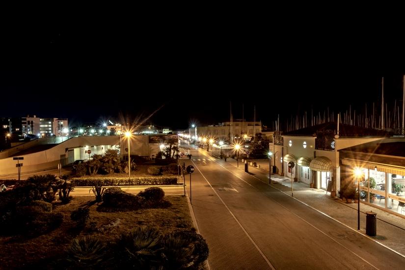 Porto di Ostia dio sera