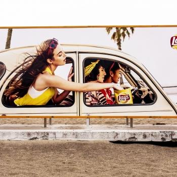 pubblicità in spiaggia