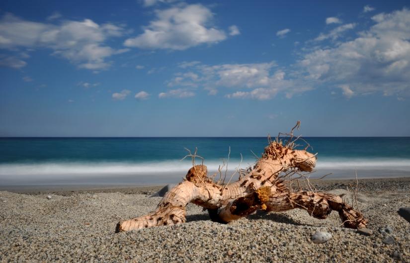 Quello che rimane sulla spiaggia