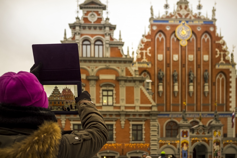 Riga. Foto di foto.