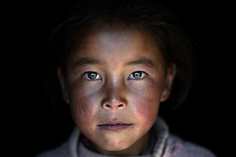 Ritratto di bambina tibetana