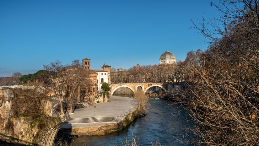 Roma, Isola Tiberina e Sinagoga