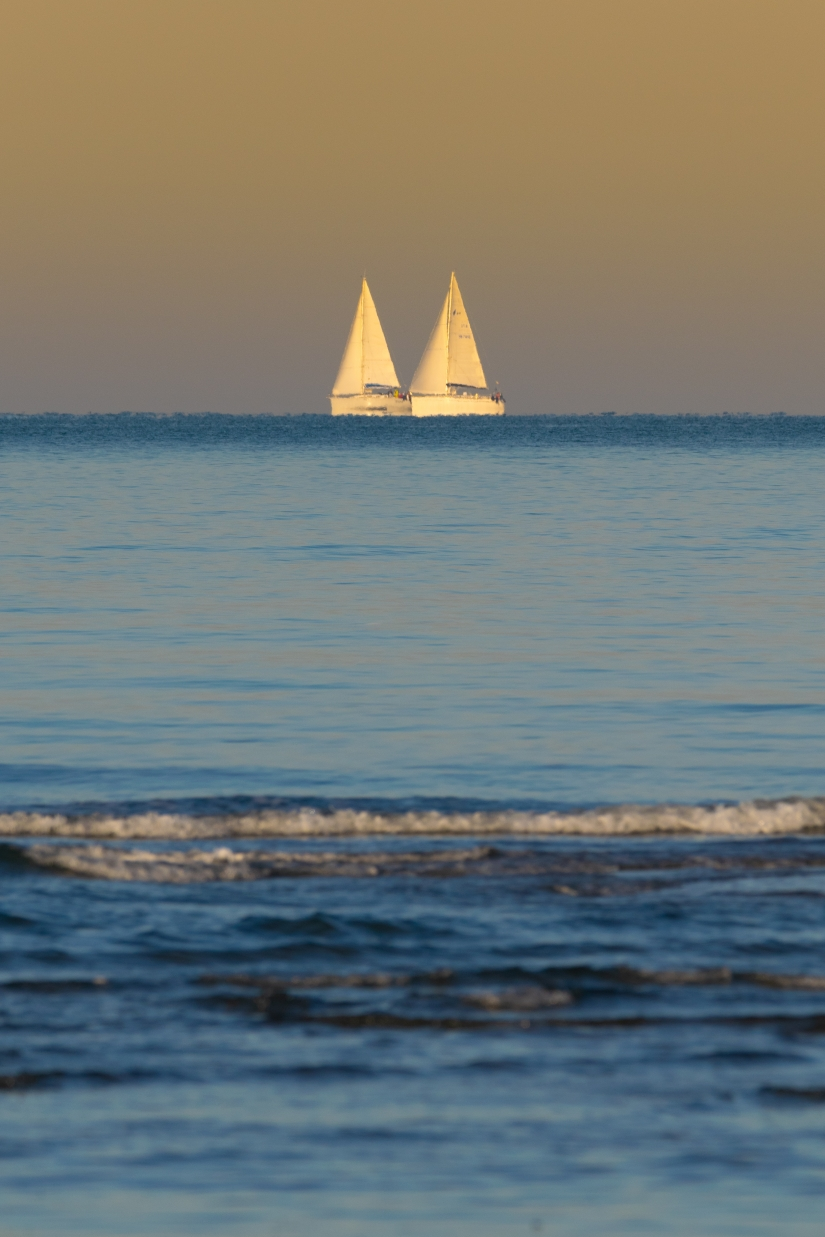 Sailing in the golden hour